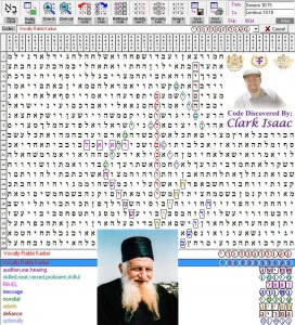 Vocally Rabbi Kaduri Torah Code by Apostolic Nuncio Clark Isaac - Terms Found: audition, ear, hearing | skilled, neat, versed, proficient, skilful | RA-EL | message