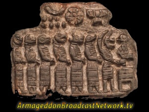 Reptilian Humanoids as shown in this Ancient Sumerian Petroglyph