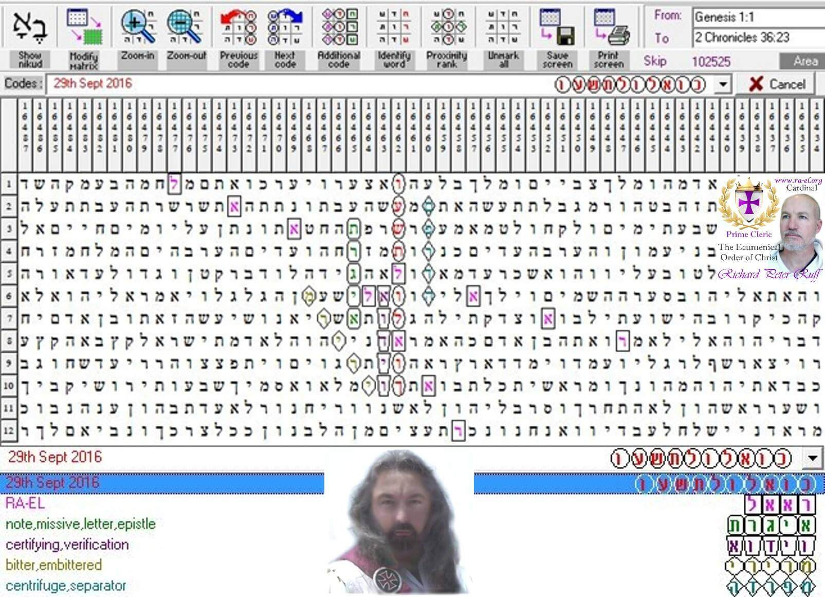 Torah Code Discovered by Richard Ruff
